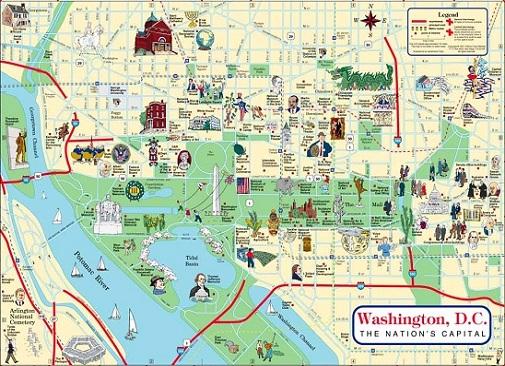 ワシントン地図