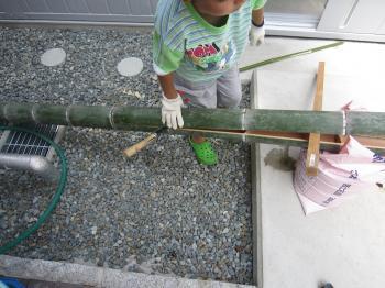竹割り作業