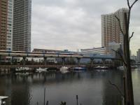 芝浦の運河とモノレール