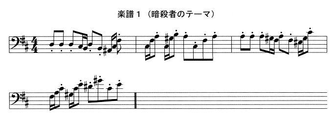 楽譜1(暗殺者のテーマ)