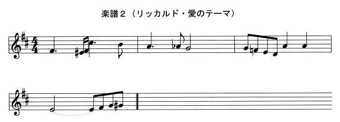 楽譜2(リッカルド・愛のテーマ)