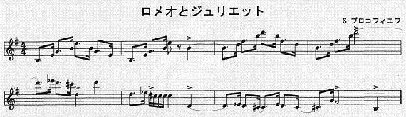 楽譜ロメオとジュリエット