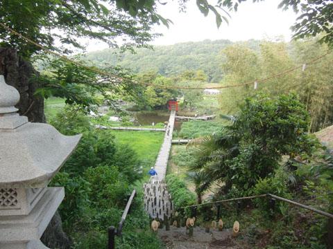 厳島神社を望む