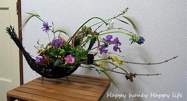 お正月の花。