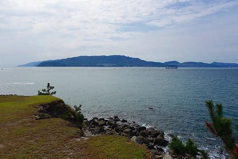 友が島第2砲台から紀淡海峡