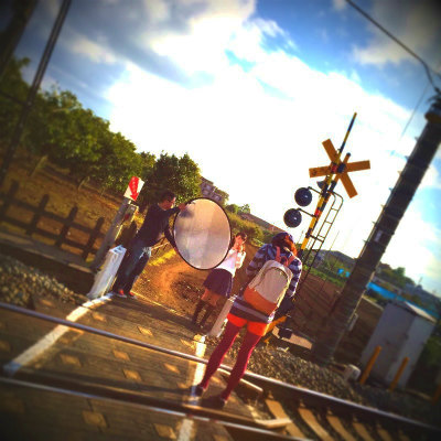 拝島線の踏切