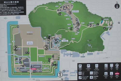 伊予松山城地図