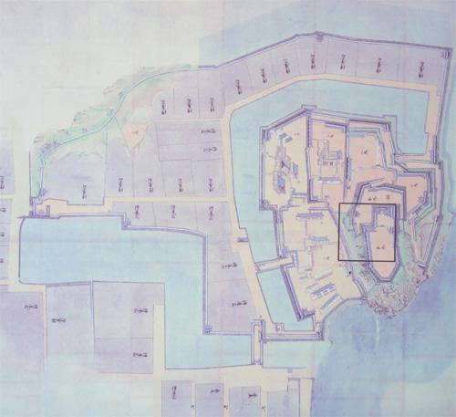 大洲城古地図