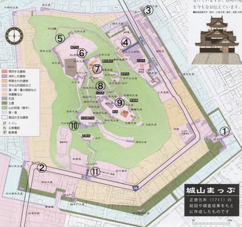 宇和島城地図