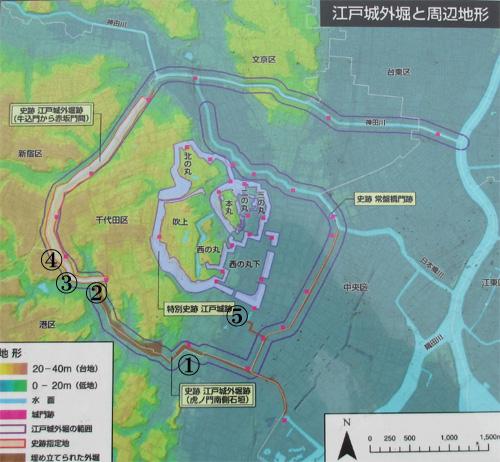 江戸城外堀地図その2