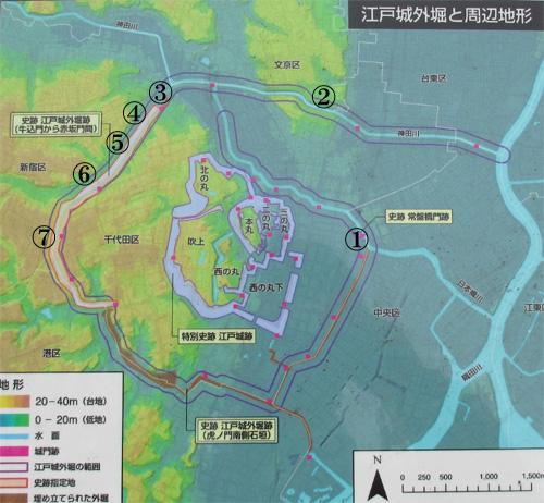 江戸城外堀地図