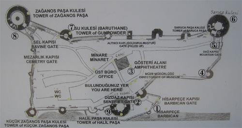 ルメリ・ヒサル地図