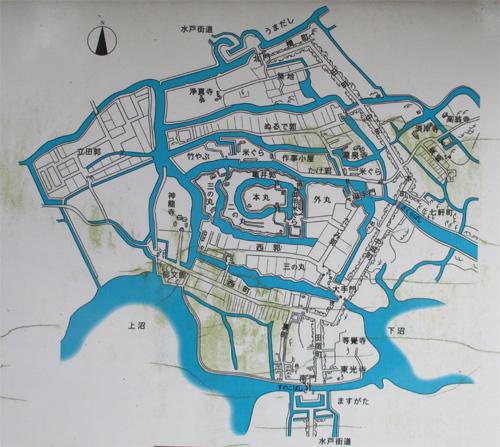 土浦城全体図