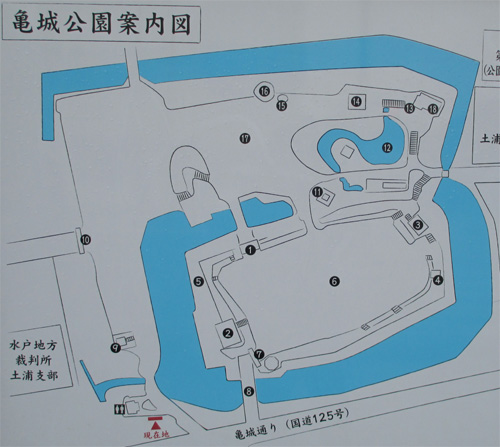 土浦城地図