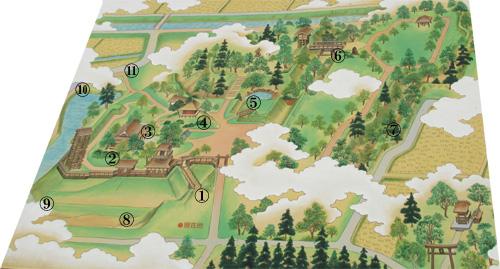 逆井城地図