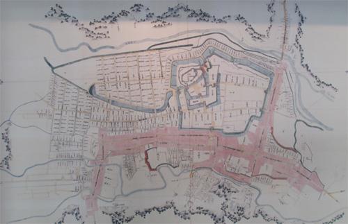 白河小峰城古地図