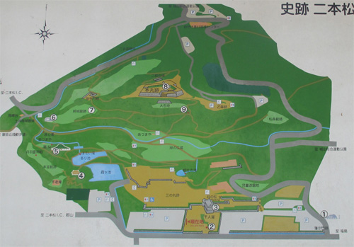 二本松城地図