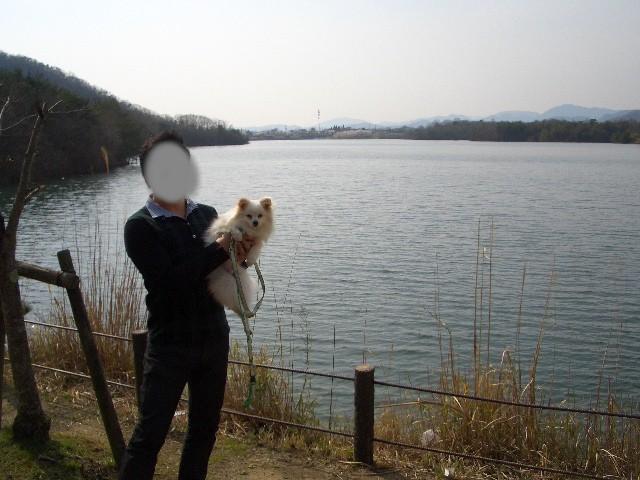 青野ダムにて