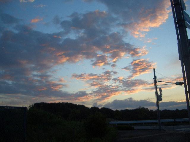 茜色の夕空