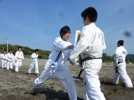 練習風景(海辺)