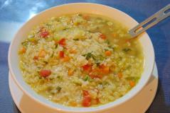 Veg Rice Soup