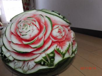 watermelon carving  for birthday