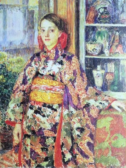 1152013大原美術館児島和服のベルギー少女S
