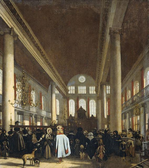Emanuel_de_Witte_-_Interieur_van_de_Portugese_synagoge_te_Aブログ