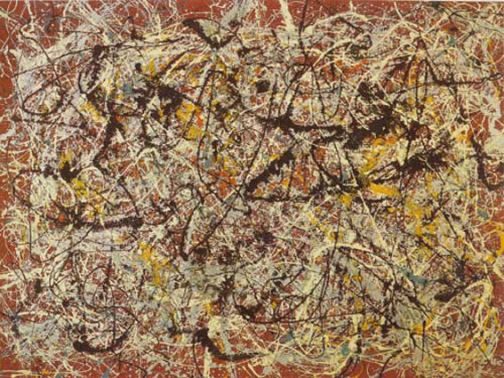 Mural on Indian Red Ground by Jackson Pollock
