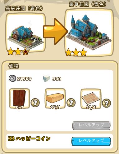 荘園レベルアップ3