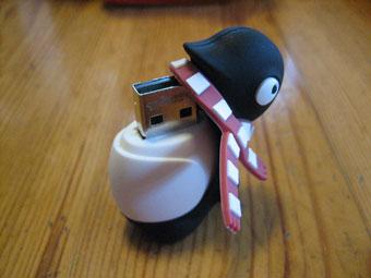 ペンギンUSBメモリの中