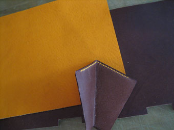 三つ折り財布ー材料とマチ