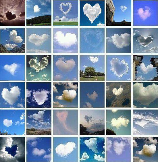 ハート雲たくさん