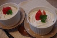 お茶菓子苺ババロア2
