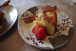 お茶菓子リンゴ&レーズンWHチョコケーキ