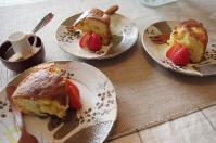 お茶菓子リンゴ&レーズンWHチョコケーキ2