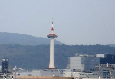 夏の京都タワー