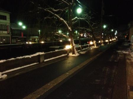 城崎温泉の積雪状況