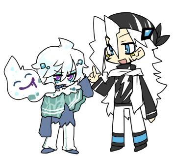 (左)バイバニラ♂と(右)ゼブライカ♂