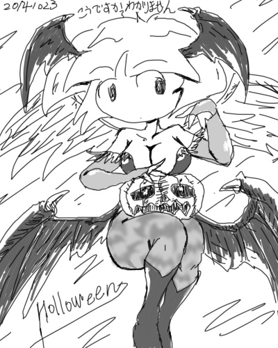 2014年10月23日羽根子さんハロウィンモリガン