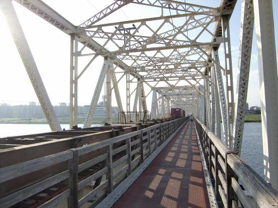 赤川仮橋2013年7月8月-10