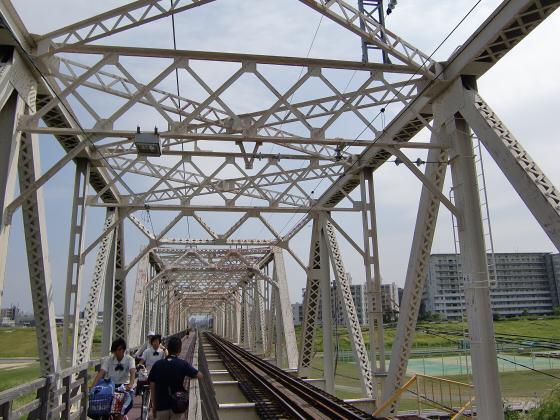 赤川仮橋2013年7月8月-27