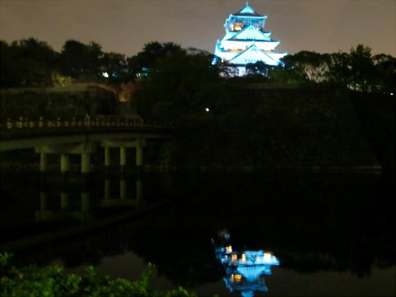 青い大阪城2011_01