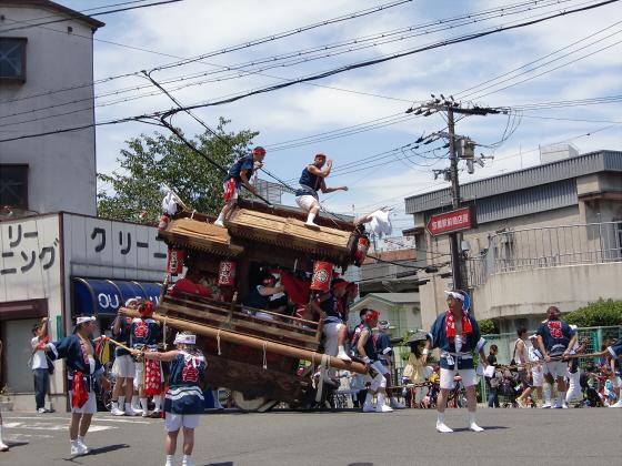 京橋にてだんじり発見04