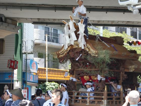 京橋にてだんじり発見08