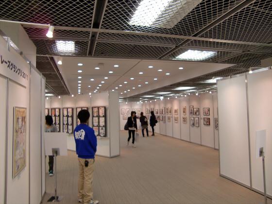 大丸梅田店でジャンプイラスト展04