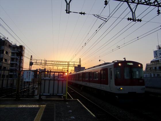 今里駅にて近鉄しまかぜ10