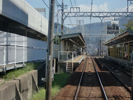 京阪電車の運転席裏から02
