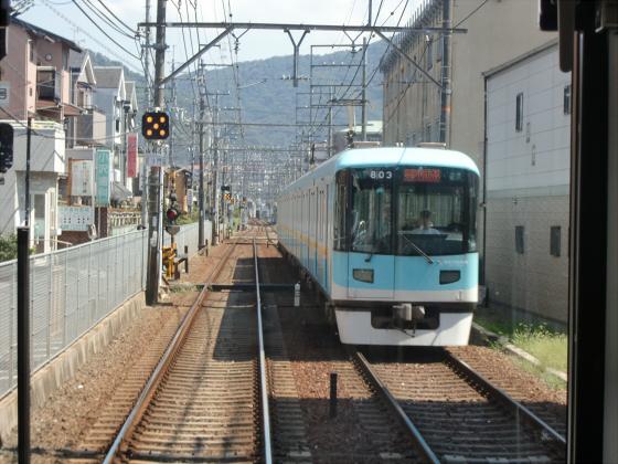 京阪電車の運転席裏から03