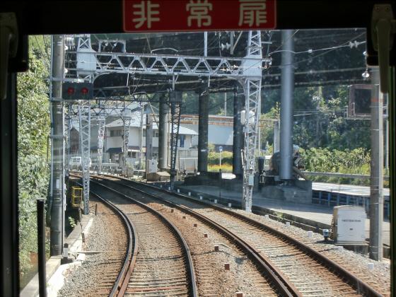 京阪電車の運転席裏から08